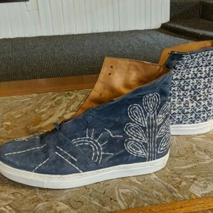 Free people suede sneakers